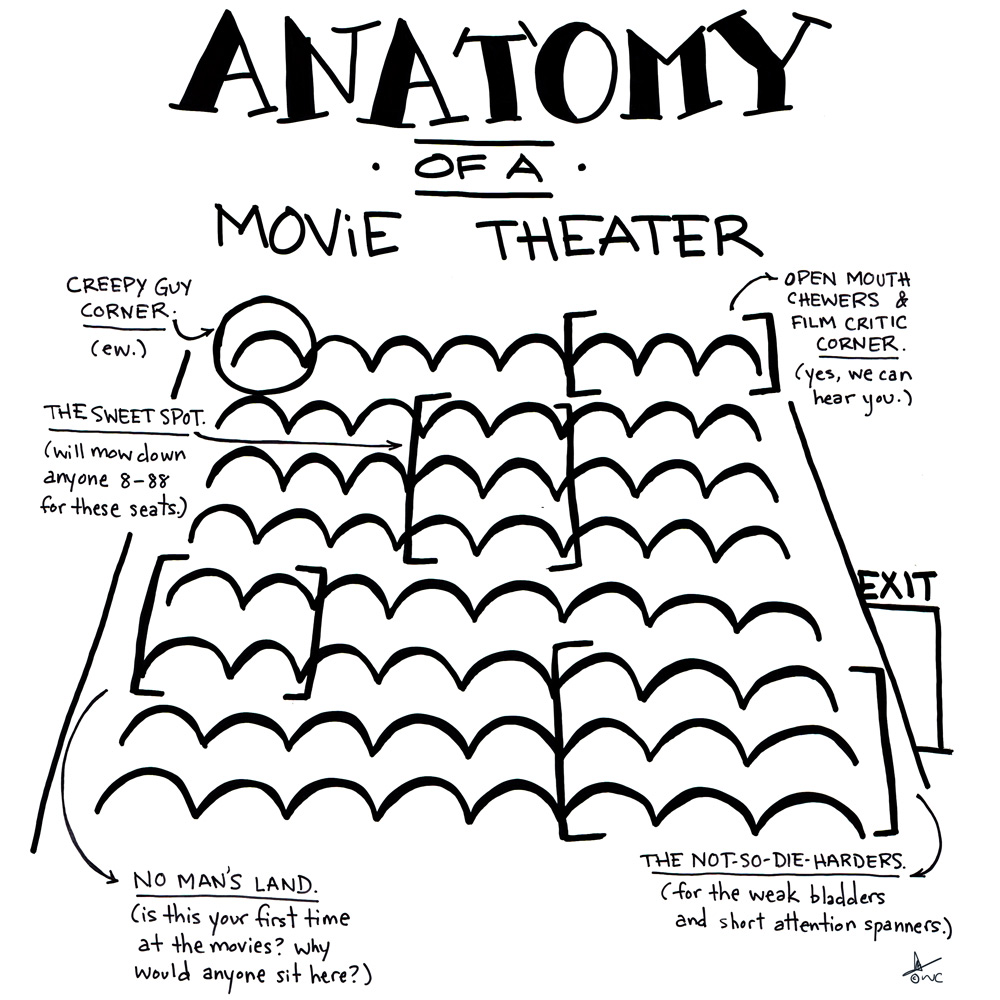 Anatomy of a Movie Theater | wicked chicken